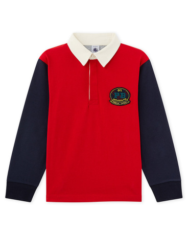 Boy's long-sleeved polo
