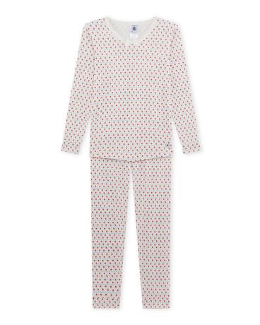 Girl's sparkly print pajamas