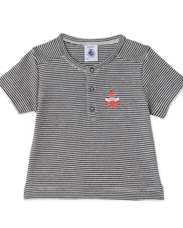 Baby boys' milleraies-striped T-shirt