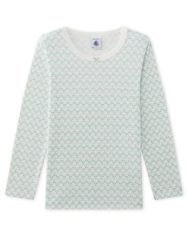 Girl's long-sleeved printed T-shirt