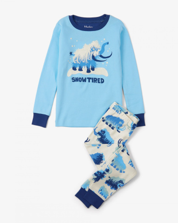 Woolly Mammoths Appliqué Organic Cotton Pajama Set