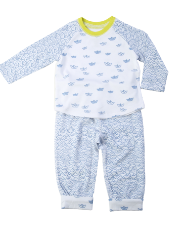 Sailboat Print Two Piece Infant Set