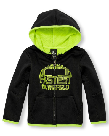 Toddler Boys PLACE Sport Long Sleeve Waffle Fleece-Lined Graphic Full-Zip Hoodie