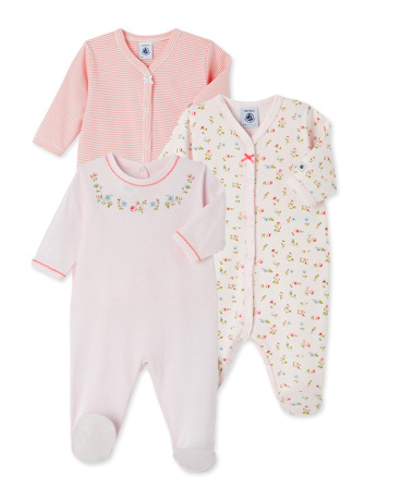 Set of three baby's sleepers