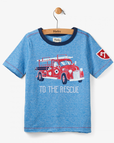 To The Rescue Firetruck Short Sleeve Tee