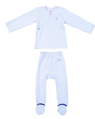 Blue Stars Jersey Kimono Set