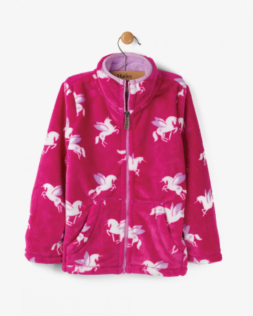 Winged Unicorns Fuzzy Fleece Jacket