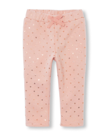 Toddler Girls Active Foil Daisy Print Pants