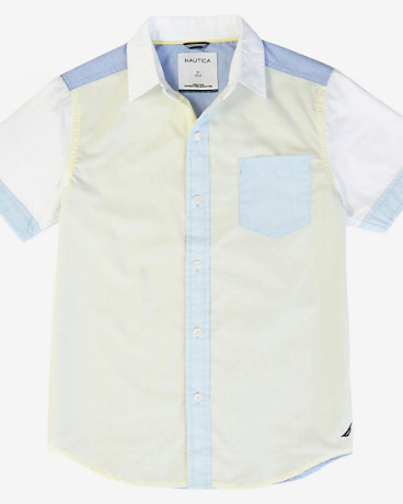 Boys' Contrast Block Short Sleeve Shirt (8-16)