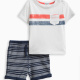 Baby Boy Pocket Tee Short Set