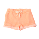 Girl's Orange Striped French Terry Short