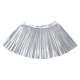 Metallic Silver Pleated Twirl Skirt