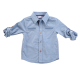 Summer Chambray Long Sleeve Dress Shirt