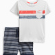 Little Boy Pocket Tee Short Set