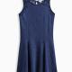 Girl Indigo Lace Bodice Dress
