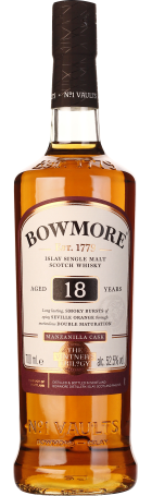 Bowmore 18 years Single Malt Manzanilla Cask 70cl