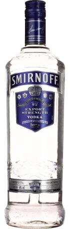 Smirnoff Blue Export Strength Vodka 1ltr