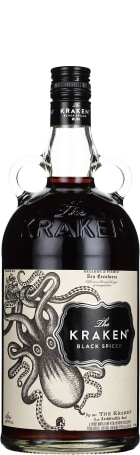 The Kraken Black Spiced Rum 1ltr