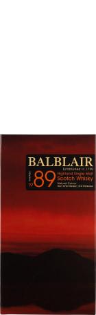 Balblair Vintage 1989 3rd Release Single Malt 70cl