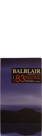 Balblair Vintage 1983 1st Release Single Malt 70cl