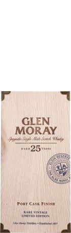 Glen Moray 25 years Port Cask Finish Single Malt 70cl