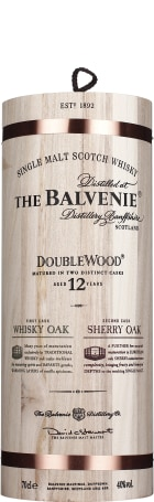 Balvenie 12 years Double Wood in Wooden Giftset 70cl