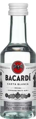 Bacardi Carta Blanca miniaturen 12x5cl