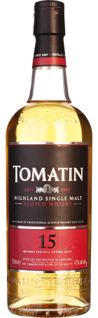 Tomatin 15 years Single Malt 70cl
