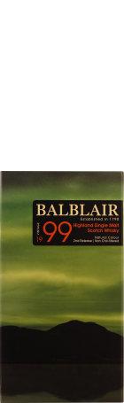 Balblair Vintage 1999 2nd Release Single Malt 70cl