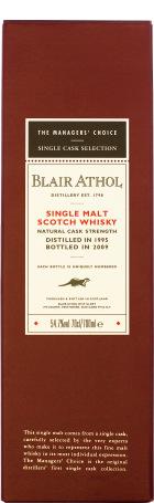 Blair Athol 1995 Single Cask 70cl