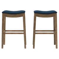 Hocker Set of 2 Bar Stools High