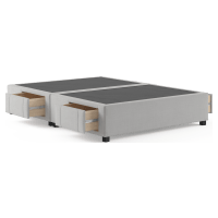 Queen Size Upholstered Bed Base with Drawers