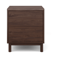 Cato Bedside Table Two Drawers