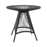 Costa Glass Top Outdoor Dining Table