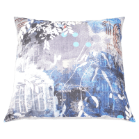 Spacecraft Studio Painting Blue Architecture Cushion