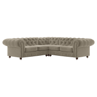 Notting Hill Velvet Chesterfield L-Shaped Sectional Corner Sofa