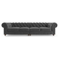 Notting Hill Velvet Chesterfield 4 Seater Modular Sofa