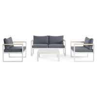 Malibu 2 Seaters & 2x Armchairs Outdoor Lounge Set
