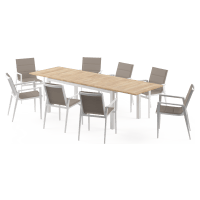 Thornton - Malibu Extendable 8 Seater Outdoor Teak Dining Set