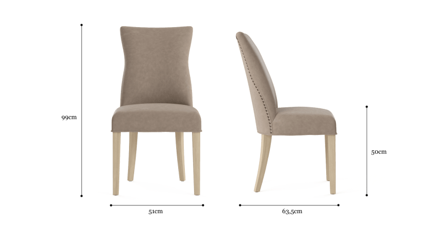 Zoe 2x Leather Dining Chair