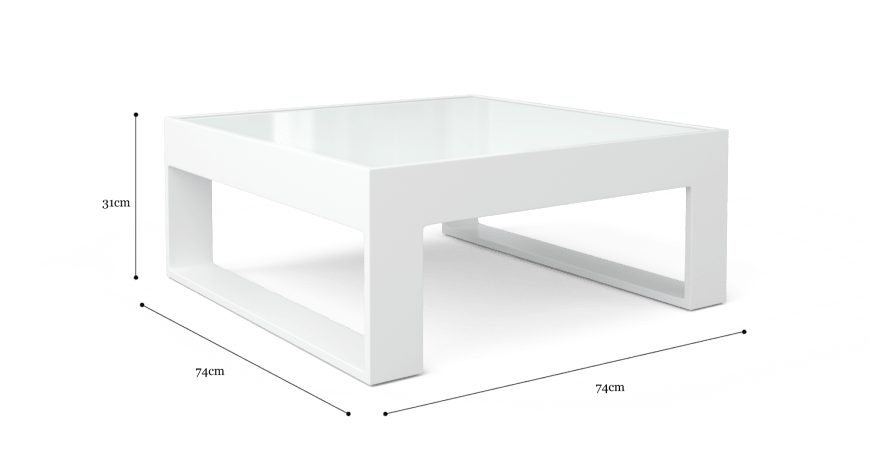Airlie Glass Top Outdoor Coffee Table