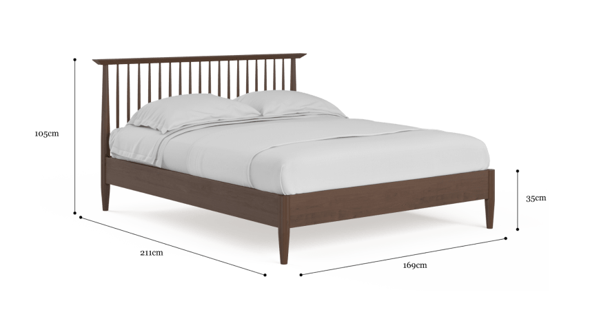 Ethan Queen Size Wooden Bed Frame