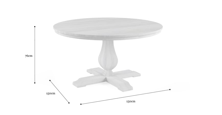 Darby Round Dining Table 150cm