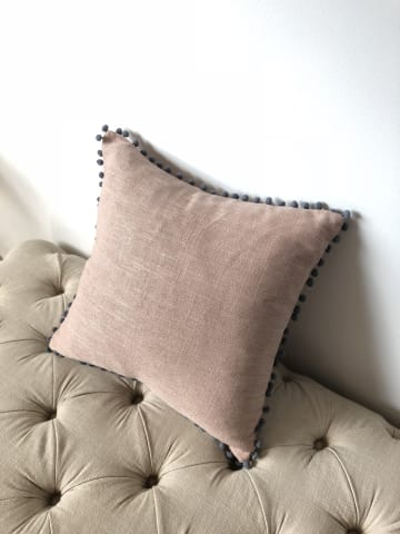 Pallo small cushion 45 x 45cm rose tan 01
