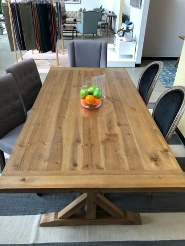 Chablis trestle dining table 200 x 100 02