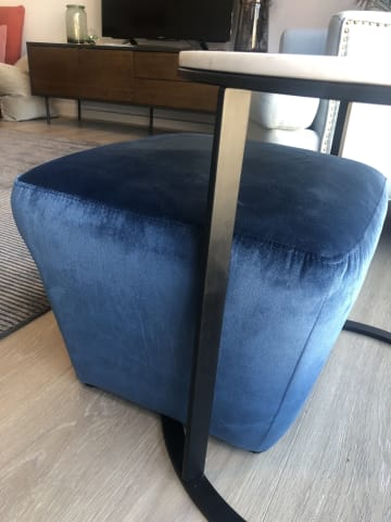 Amber ottoman huber end table