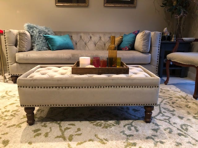 Florence velvet chesterfield 3 seater sofa putty beige 02