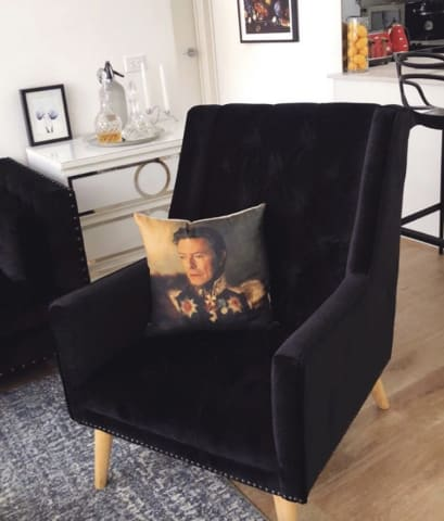 Lennox armchair ebony black 01