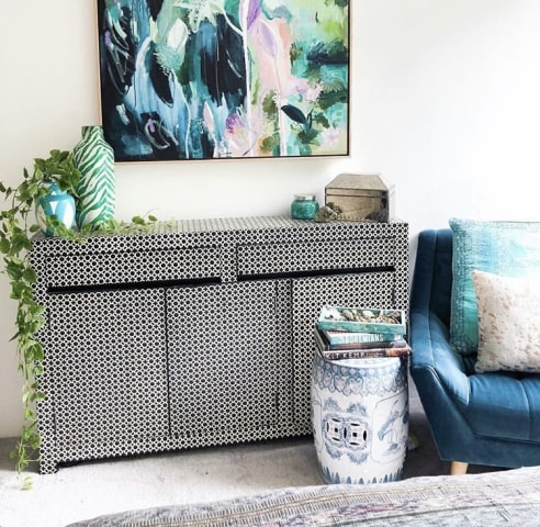 Pia armchair peacock teal 02