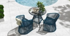 Costa 3 Piece Outdoor Setting 2x Dining Chair with Dining Table